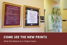 "Center for Spiritual Living, Chico ""What we Believe"" and ""A Global Vision"" prints"