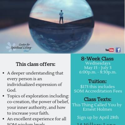 Science of Mind classes in Chico, to learn more about its practices and beliefs
