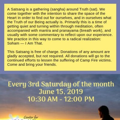 Meditation classes in Chico, Ca 2019
