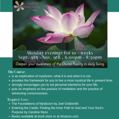 Spiritual and Christian based classes in Chico Ca