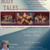 Flyer for Spiritual class body tales with photos of people dancing