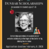 Flyer for Dunbar Scholarship