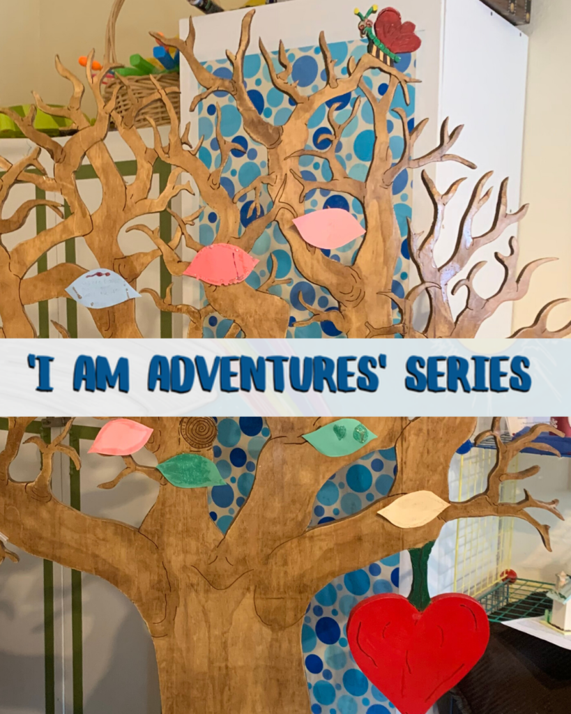 Photo of a wooden tree based on the children's book I Am Adventures Series