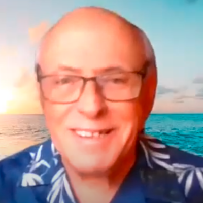 Online Guided Meditation Youtube Channel Center for Spiritual Living Chico on Simplicity Meditation registered science of mind wearing glasses and a Hawaiian shirt