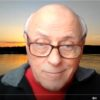 Screen shot capture of guided meditation instructor from online zoom meditation