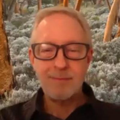 Screen shot image of John Boyle giving an online guided meditation for new thought