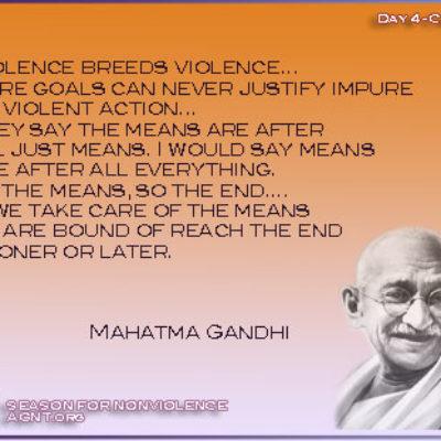 Season of nonviolence 2021 quote gandhi quote