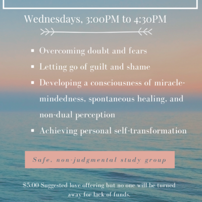 A Course In Miracles Class Flyer in Chico, CA