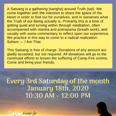 chico meditation event flyer 2020