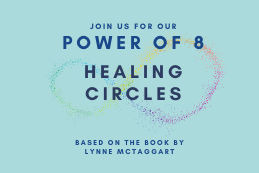 Light blue promotion for healing circles online
