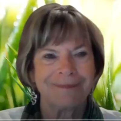 Sunday Guided Meditation speaker screen capture of youtube video. Female new though science of mind practitioner