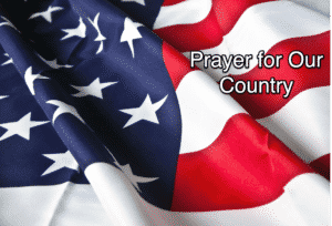 """Flag with text """"Prayer for our Country"""""""