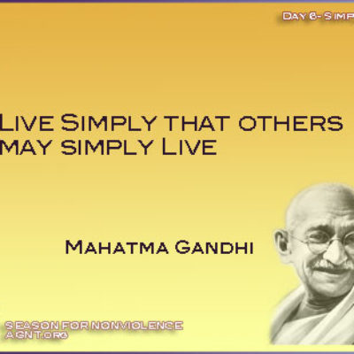 Day 6 of Season of nonviolence quote by Gandhi