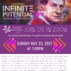 Infinite Potential The Life & Ideas of David Bohmikm Movie Night Flyer with purple background based on physics