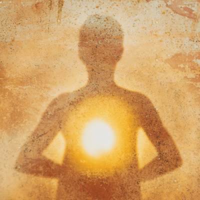 Image of a human glowing spiritual image for meditation