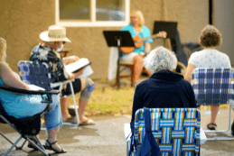 Community photo from Center for Spiritual Living Chico in Chico Ca image of outside choir practice